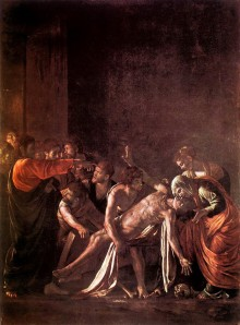 Caravaggio, Raising of Lazarus 1608f