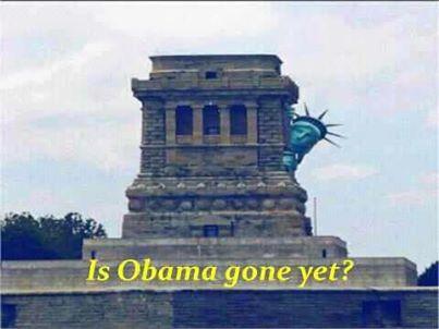 is obama gone yet