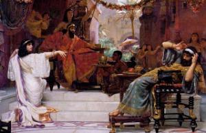 Esther  exposes Haman.