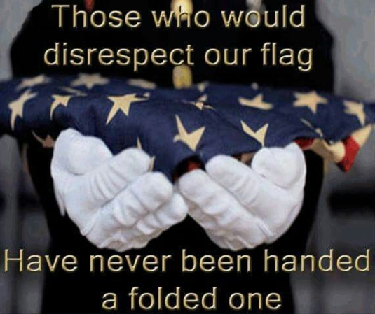 Flag-folded